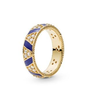 Exotic Stones And Stripes Pandora Ring
